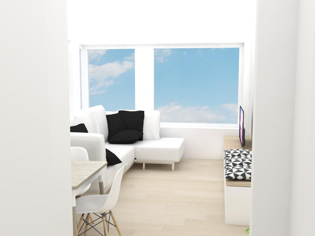interieurinrichting schilderwerken leefruimte appartement